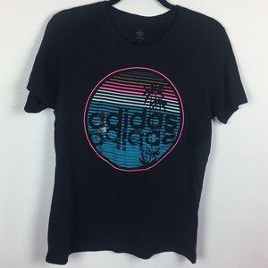 Adidas Women's Graphic Cotton T-shirt Black -XL